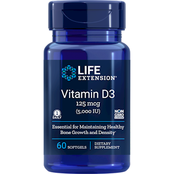 Vitamin D3 125 mcg 60 softgels