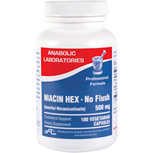 Load image into Gallery viewer, Niacin Hex (No Flush) 525 mg 100 vegcaps