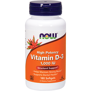 Vitamin D-3 1000 IU 180 softgels