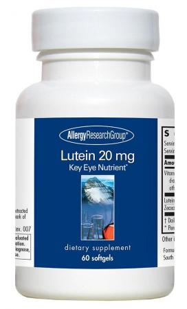 Lutein 20 Mg 60 Softgels