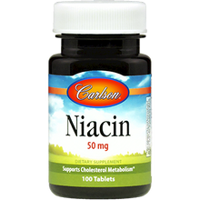 Load image into Gallery viewer, Niacin 50 mg 100 tabs