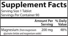 Load image into Gallery viewer, Chelated Magnesium 200 mg 90 tabs
