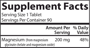 Chelated Magnesium 200 mg 90 tabs