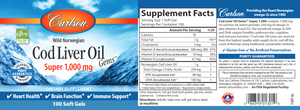Super Cod Liver Oil 1000 mg 100 gels