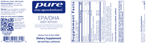 EPA/DHA with lemon 120 gels