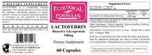 Load image into Gallery viewer, Lactoferrin 100 mg 60 caps