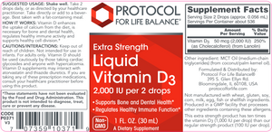 Liquid Vitamin D-3 2,000 IU 1 oz