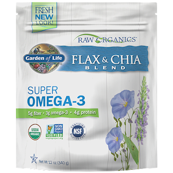 Raw Organic Flax Meal + Chia Seeds 12 oz