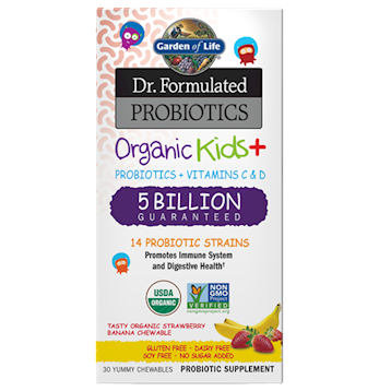 Organic Kids Probiotics Strw/Ban 30chews