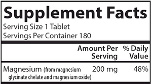 Chelated Magnesium 180 tabs