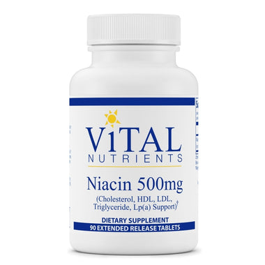 Niacin 500mg Extended Release 90 tablets
