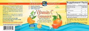 Vitamin C Gummies 250mg 120 Gummies