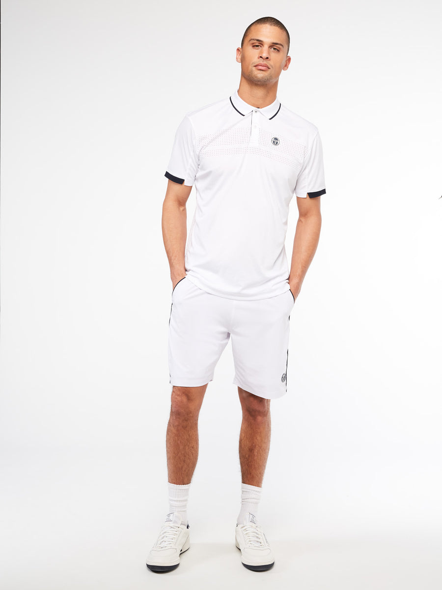 Tennis Young Line Pro Polo - BLANC DE BLANC/NIGHT SKY