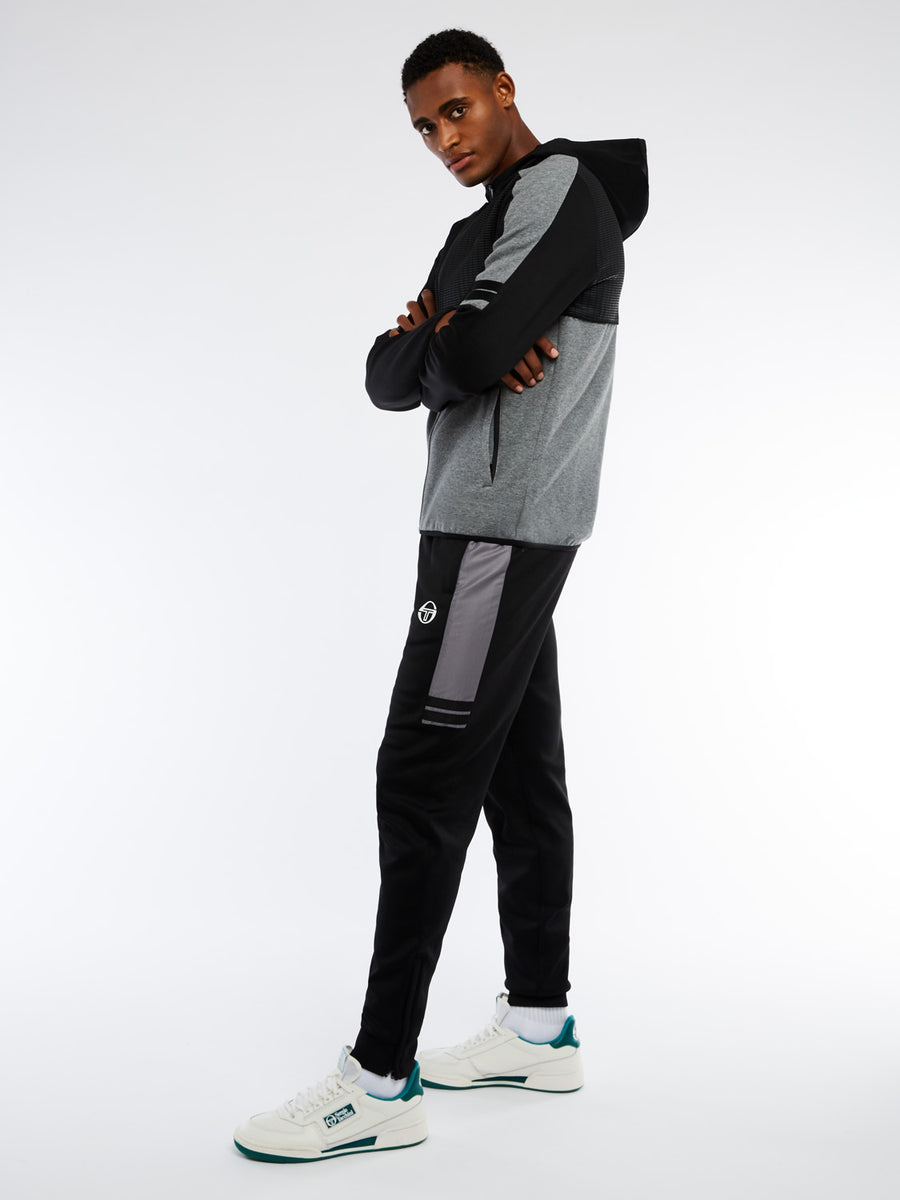 Beal Tracksuit - BLACK/DARK GREY MELANGE