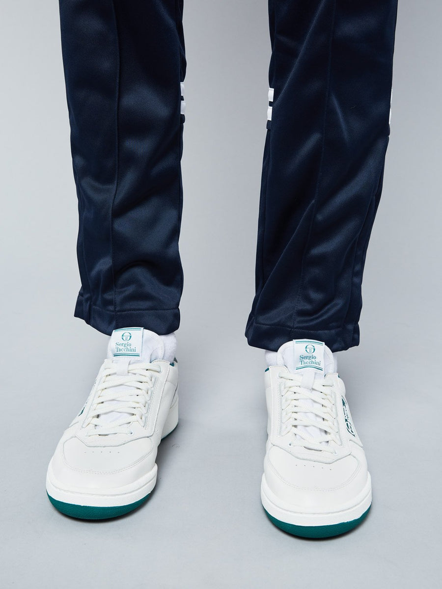 NEW YOUNG LINE SNEAKER - WHITE/FOREST GREEN