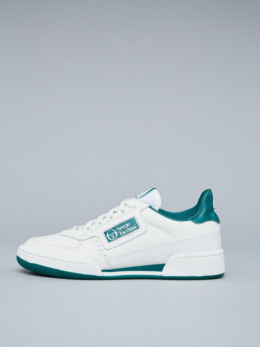NEW YOUNG LINE SNEAKER WOMEN - WHITE/FOREST GREEN