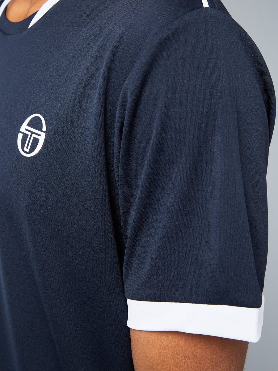 CLUB TECH T-SHIRT - NAVY/WHITE