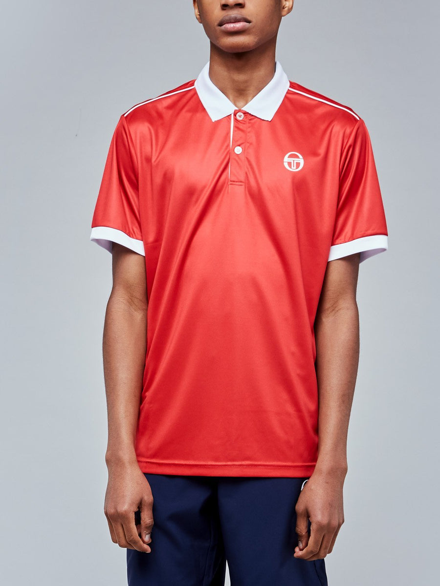 CLUB TECH POLO - RED/WHITE