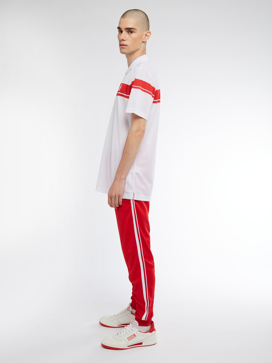 Young Line Pro Polo - WHITE/RED