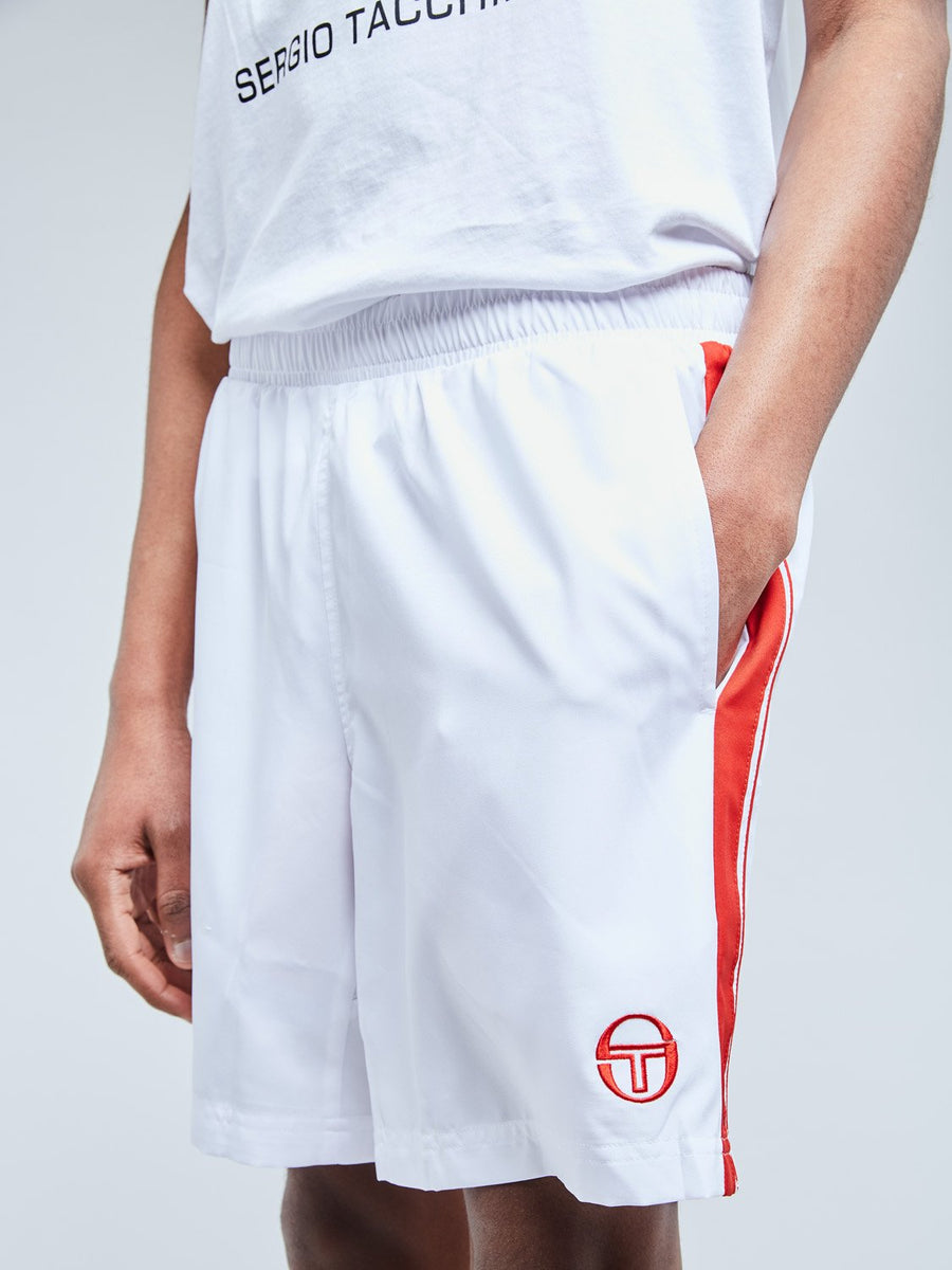 YOUNG LINE PRO SHORTS - WHITE/RED