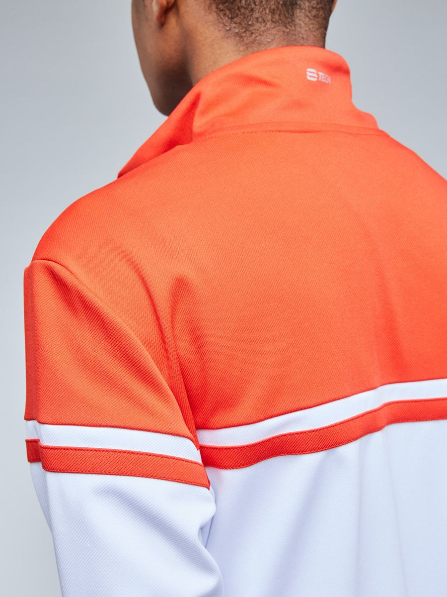 YOUNG LINE PRO TRACKTOP - WHITE/RED