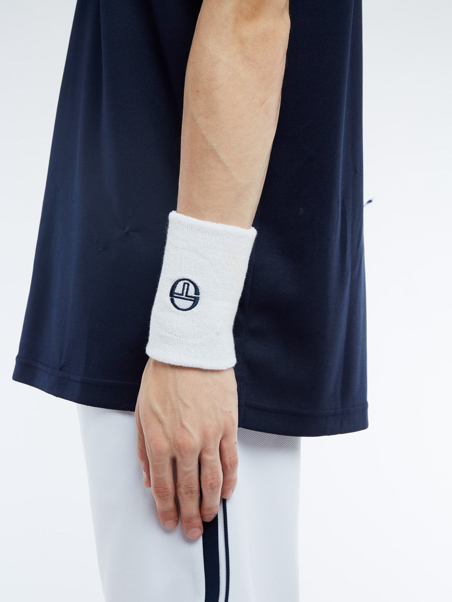 Tennis Wristband - WHITE/NAVY