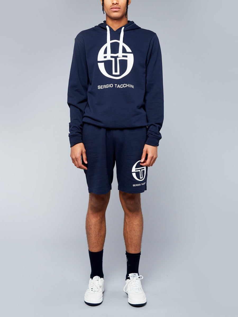 COMMA SWEATER SLIM FIT - NAVY/WHITE