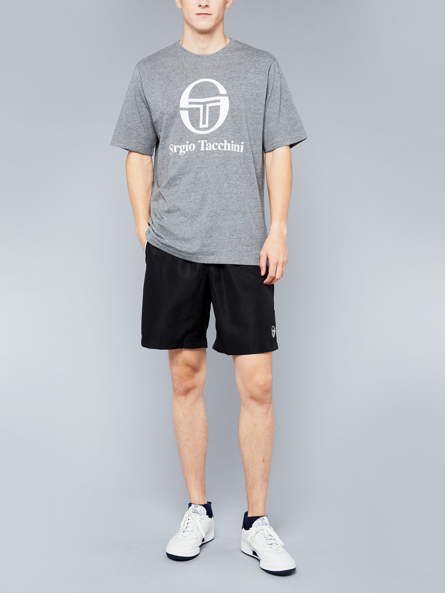 CHIKO T-SHIRT - DARK GREY MELANGE/WHITE