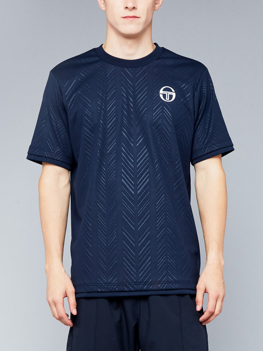 CHEVRON T-SHIRT - NAVY/WHITE