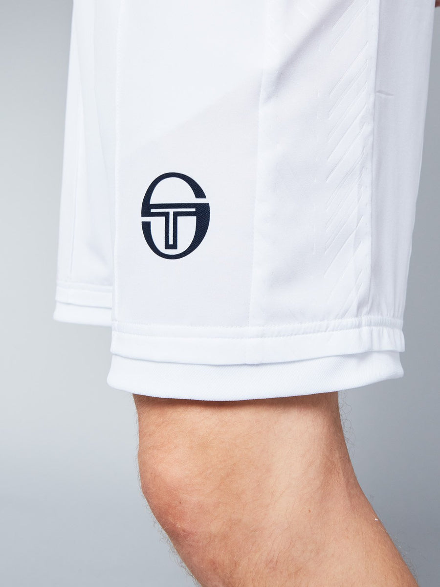 CHEVRON SHORTS - WHITE/NAVY