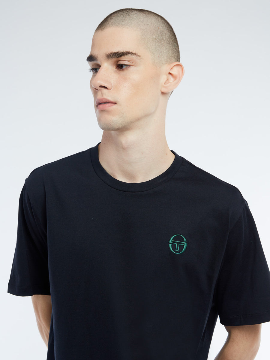 Sergio T-Shirt - BLACK/BOTANICAL