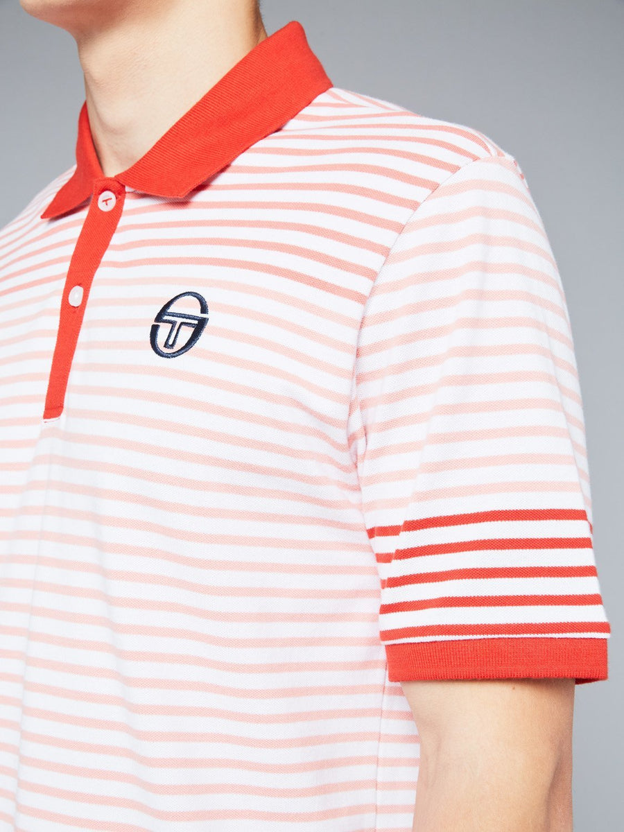FRIEND POLO - WHITE/VINTAGE RED
