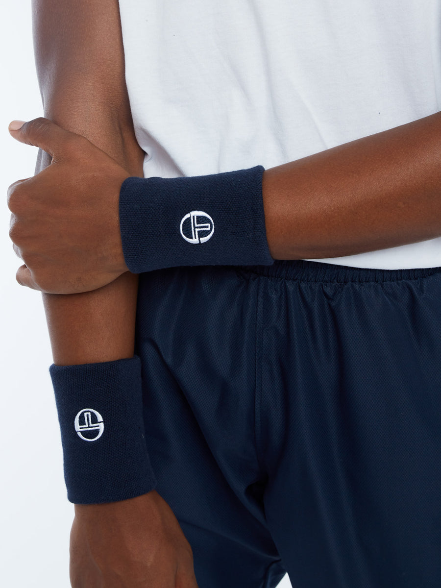 Check Wristband - NAVY/WHITE