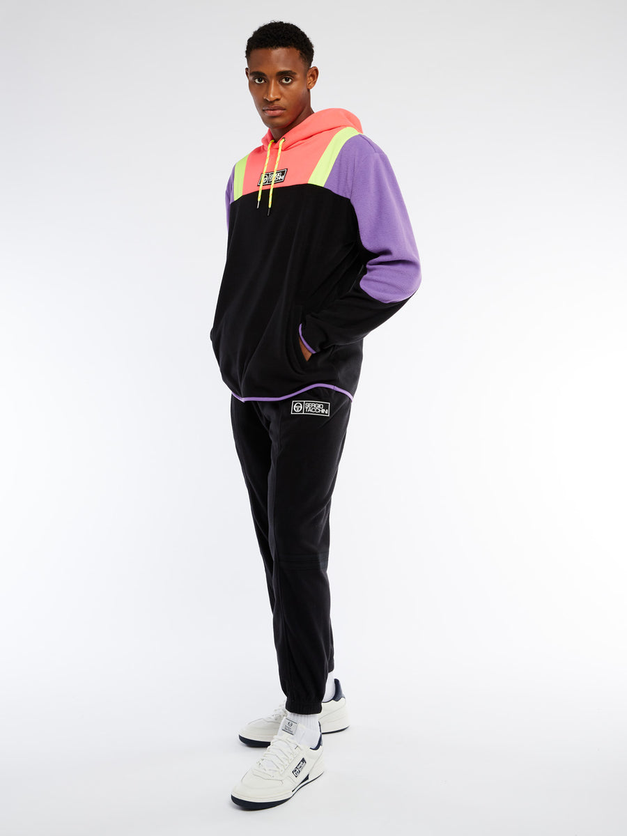 Bliss Fleece Hoodie - BLACK/CHIVE BLOSSOM