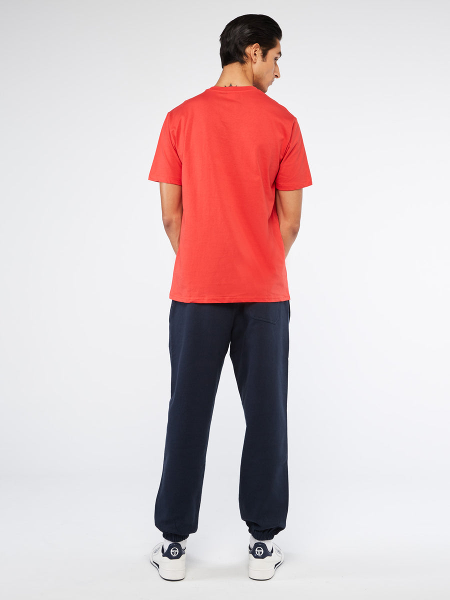 Bowl T-Shirt - RED/NAVY