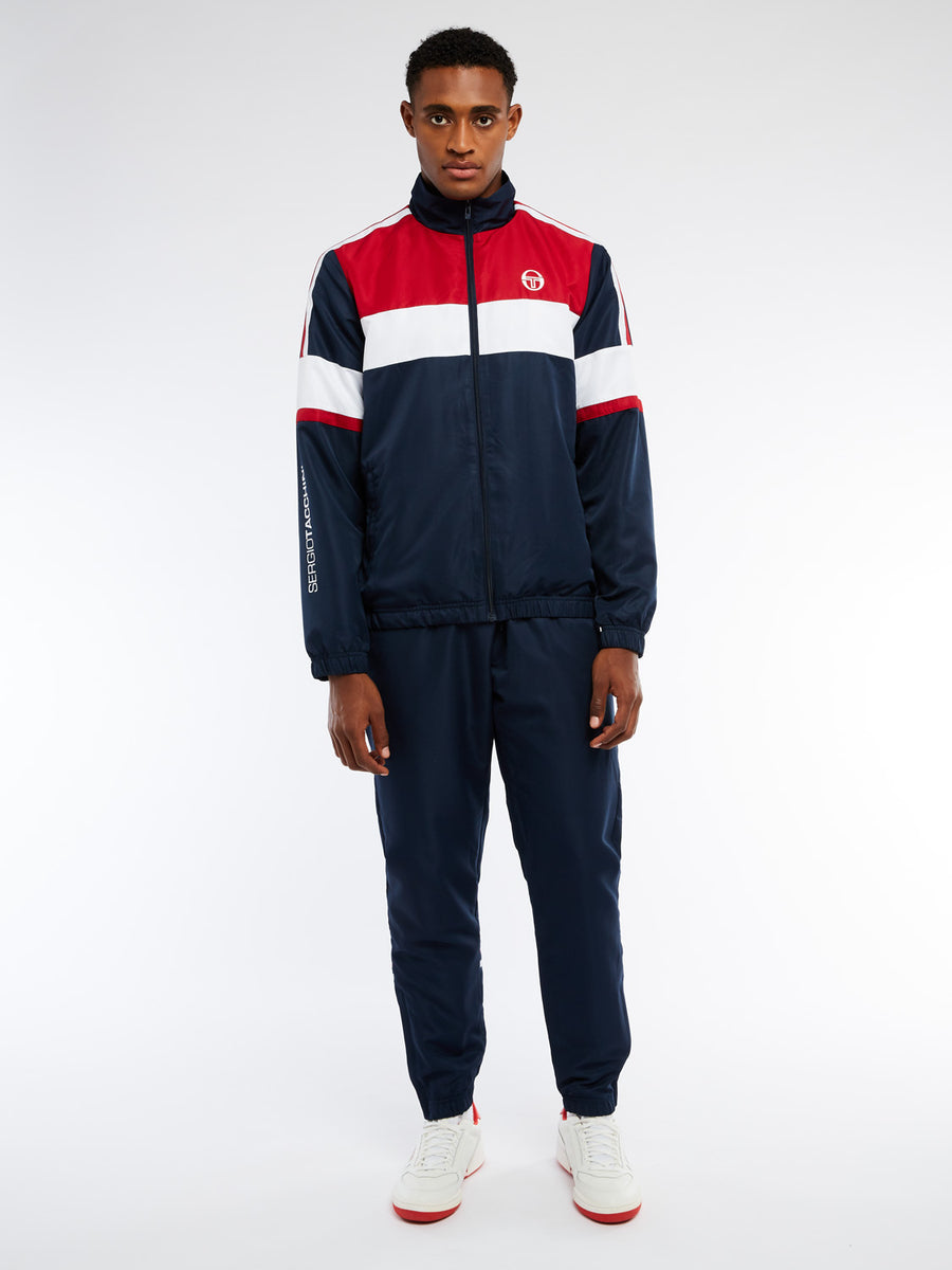 Bright Track Jacket - NAVY/WHITE
