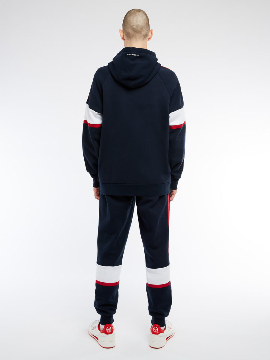 Basis Hoodie - NAVY/APPLE RED