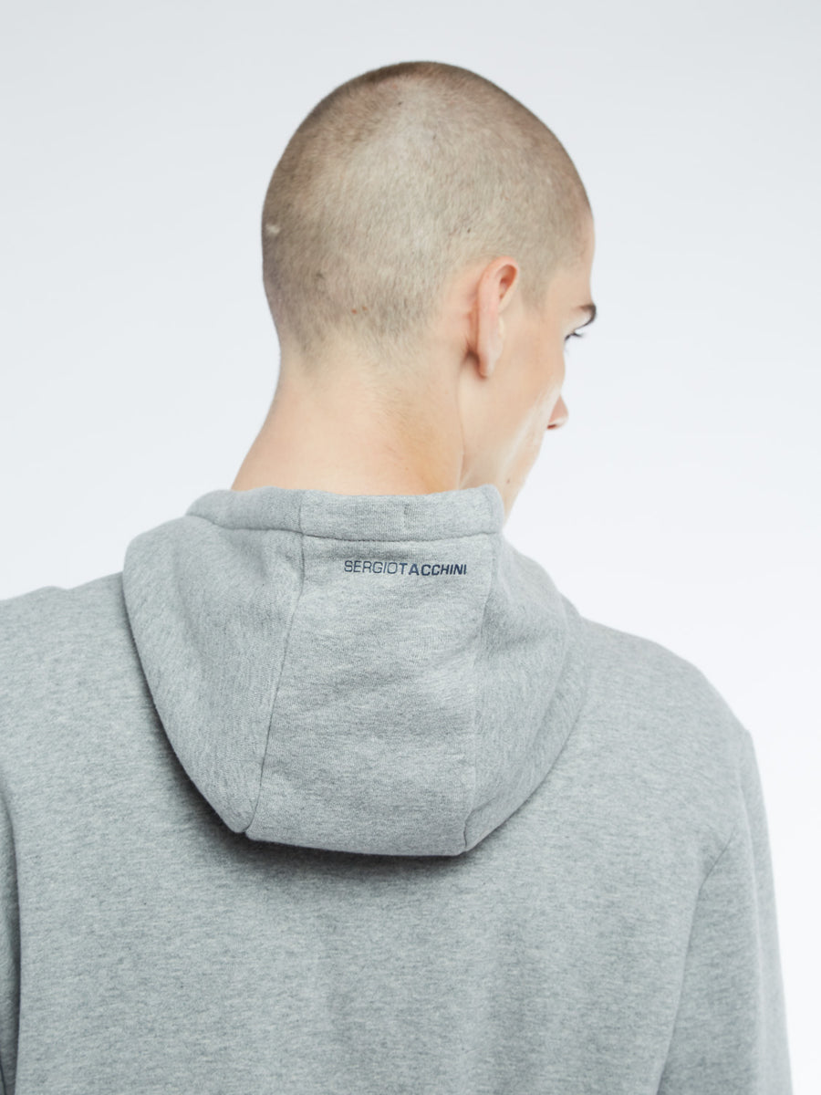 Barkley Full Zip Hoodie - GREY MELANGE/NAVY