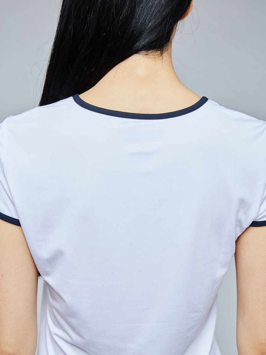 EVA T-SHIRT - WHITE/NAVY