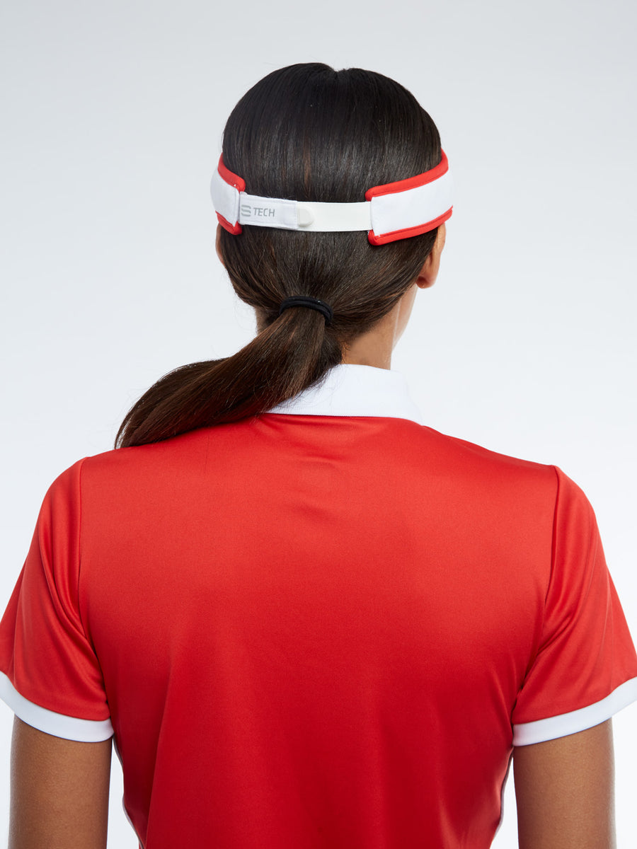 Eva Visor - WHITE/RED