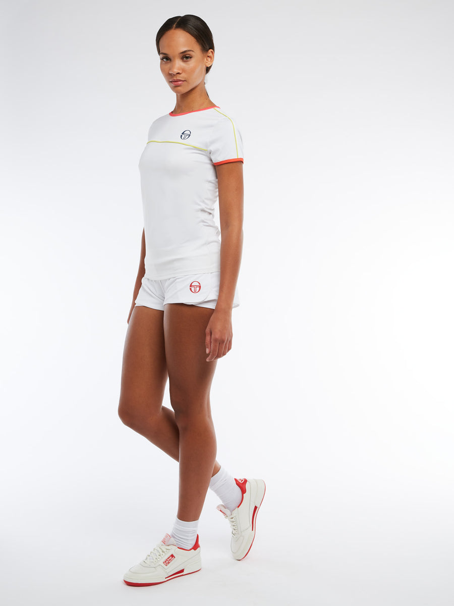 Iris T-Shirt - WHITE/ROUGE RED
