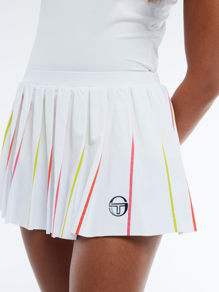 Iris Skort - WHITE/ROUGE RED