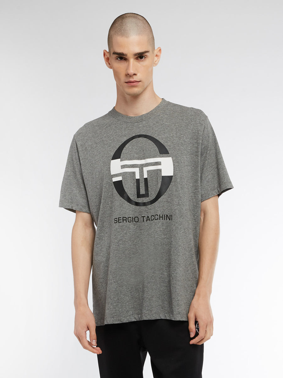 Iberis T-Shirt - DARK GREY MEL/WHITE/BLACK