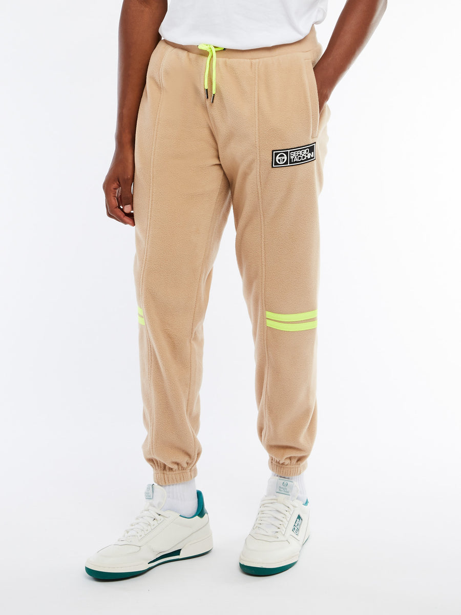 Brother Fleece Pants - NOMAD/YELLOW FLUO