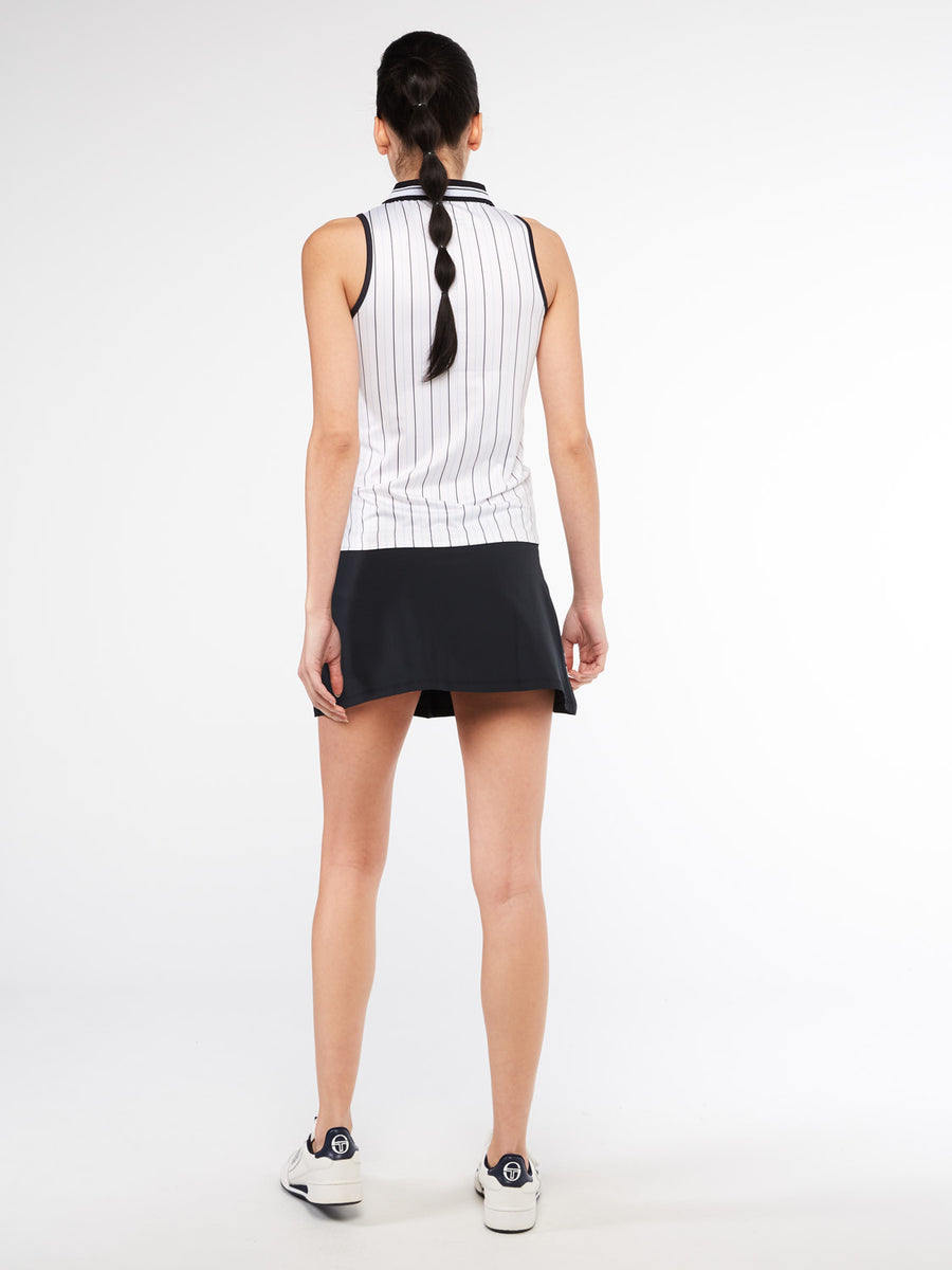 Paris Sleeveless Polo - BLANC DE BLANC/ANTHRACITE