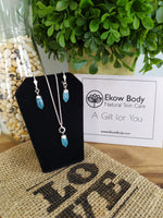 Points of Blue - Necklace & Earring Set