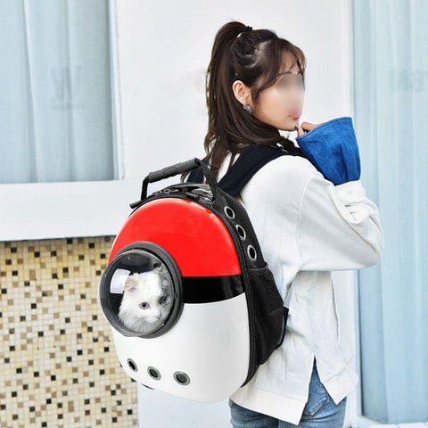 Portable Dog Cat Carrier Bag Breathable Space Capsule Astronaut Travel Bag Transparent Outdoor Small Cat Carrier Pet Backpack - Petvio