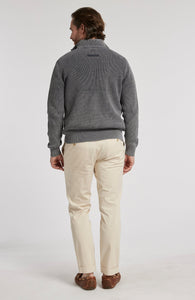 Zip Front Mineral Wash Sweater Jacket
