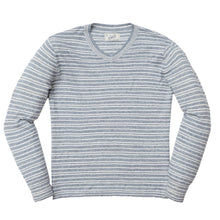 Load image into Gallery viewer, Bedford Stripe V Neck - Denim