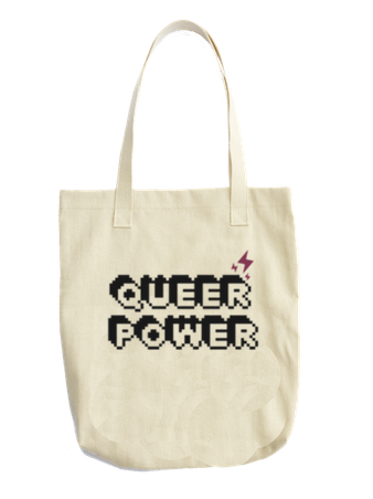 QUEER POWER - BOBO ACADEMY - tote bag - LGBTQ - PRIDE - APPAREL